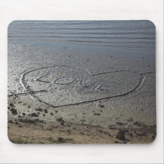 Love Written in the Sand Mouse Pad
