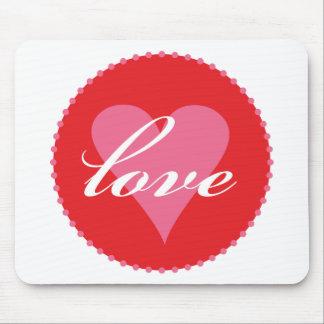 love xoxo mouse mats