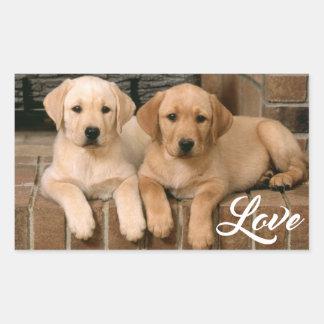 Love Yellow Labrador Retriever Puppies Sticker