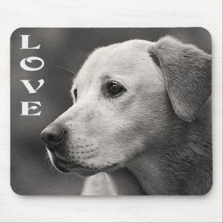 Love Yellow Labrador Retriever Puppy Dog Mousepad