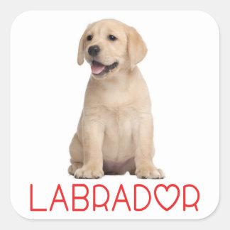 Love Yellow Labrador Retriever Puppy Dog Stickers