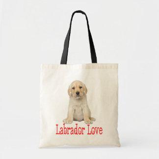 Love Yellow Labrador Retriever Puppy Dog Tote Bag