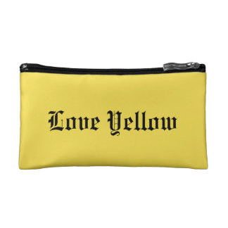 Love Yellow Small Cosmetic Bag