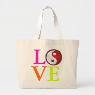 Love+Yin Yang Symbol Jumbo Tote Bag