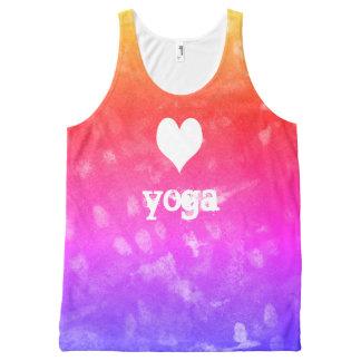 love yoga All-Over print tank top