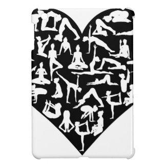 Love Yoga Poses Silhouettes Heart iPad Mini Cases