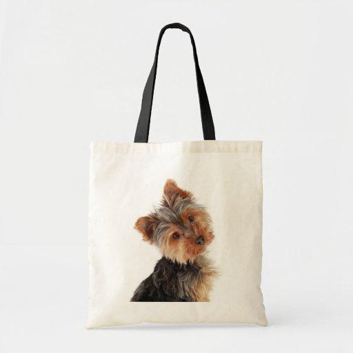 Love Yorkies Yorkshire Terrier Canvas Totebag Tote Bags