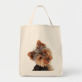 Love Yorkies Yorkshire Terrier  Grocery Totebag