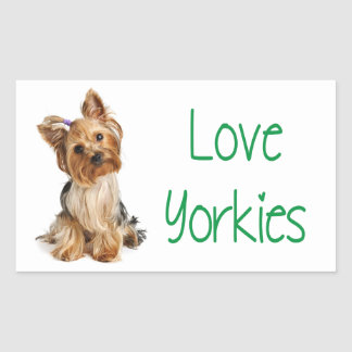 Love Yorkies Yorkshire Terrier Puppy Dog Sticker