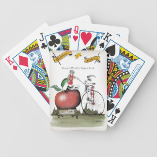 Love Yorkshire big apples Bicycle Playing Cards