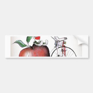 Love Yorkshire big apples Bumper Sticker