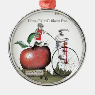 Love Yorkshire big apples Christmas Ornament