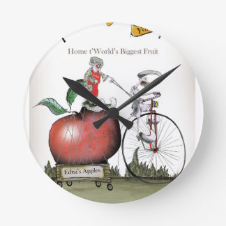 Love Yorkshire big apples Round Clock
