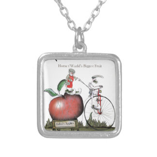 Love Yorkshire big apples Silver Plated Necklace