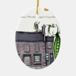 Love Yorkshire big peapods Christmas Ornament