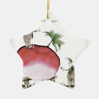 Love Yorkshire big radish Christmas Ornament