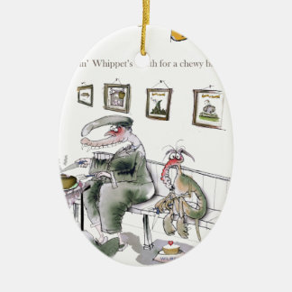 love yorkshire borrowing whippets teeth christmas ornament