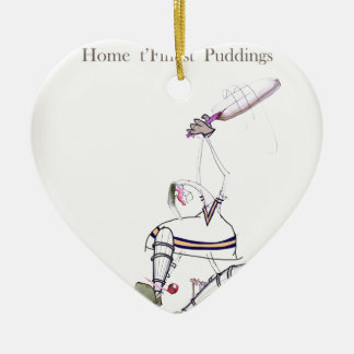 Love Yorkshire Cricket 'finest puddings' Christmas Ornament