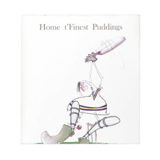 Love Yorkshire Cricket 'finest puddings' Notepad