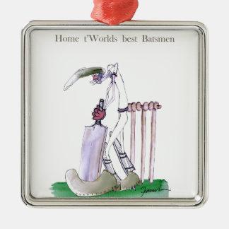 Love Yorkshire Cricket 'home to world best batsmen Christmas Ornament