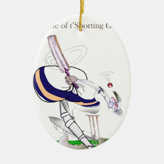 Love Yorkshire Cricket 'sporting greats' Christmas Ornament