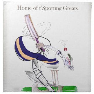 Love Yorkshire Cricket 'sporting greats' Napkin