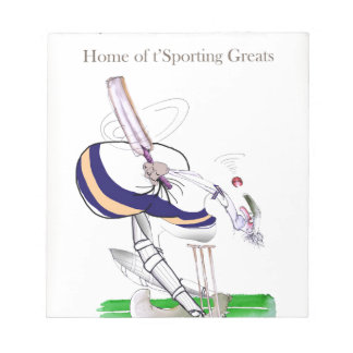 Love Yorkshire Cricket 'sporting greats' Notepad