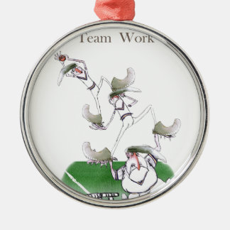 Love Yorkshire Cricket 'team work' Christmas Ornament