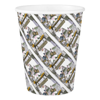 love yorkshire flat fish paper cup