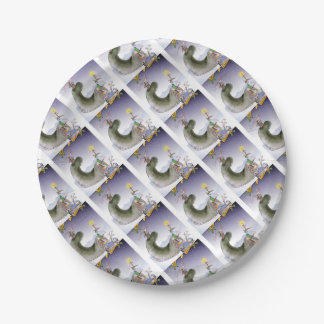 love yorkshire happy christmas paper plate