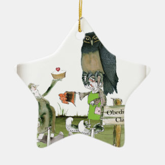 love yorkshire obedience class christmas ornament