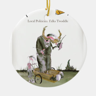love yorkshire politicians christmas ornament