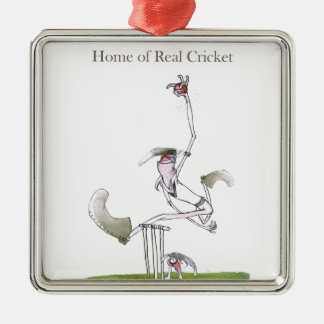 Love Yorkshire 'real cricket' Christmas Ornament