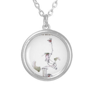 Love Yorkshire 'real cricket' Silver Plated Necklace