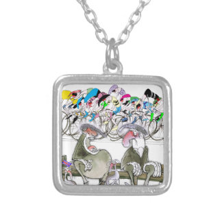 Love Yorkshire t'aint reet wearing fancy jumpers Silver Plated Necklace