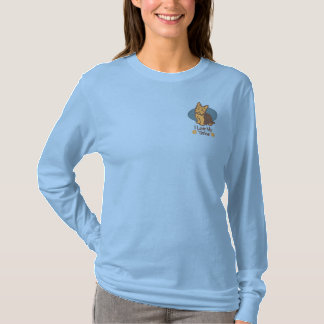 Love Yorkshire Terrier Embroidered Long Sleeve T-Shirt