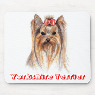 Love Yorkshire Terrier Puppy Dog Painting Mousepad