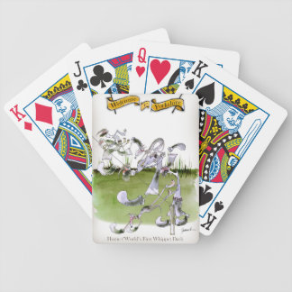 Love Yorkshire whippet dash Bicycle Playing Cards