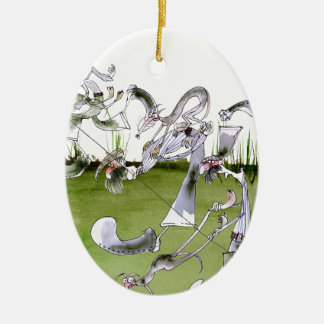 Love Yorkshire whippet dash Christmas Ornament