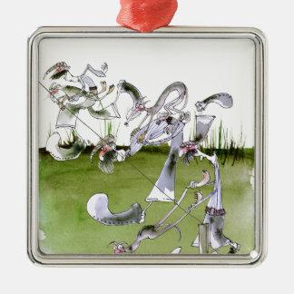 Love Yorkshire whippet dash Christmas Ornament