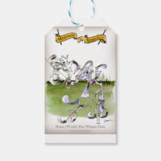 Love Yorkshire whippet dash Gift Tags