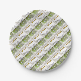 Love Yorkshire whippet dash Paper Plate
