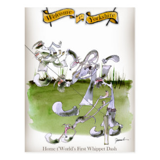 Love Yorkshire whippet dash Postcard