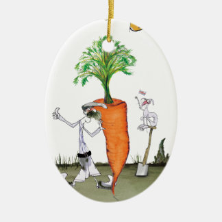 Love Yorkshire 'world's biggest carrot' Christmas Ornament