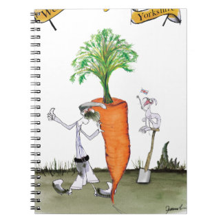 Love Yorkshire 'world's biggest carrot' Notebooks