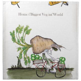 Love Yorkshire 'world's biggest parsnip' Napkin