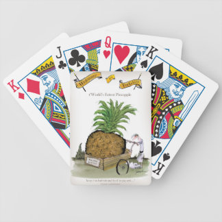 Love Yorkshire 'world's fattest pineapple' Bicycle Playing Cards