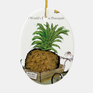 Love Yorkshire 'world's fattest pineapple' Christmas Ornament