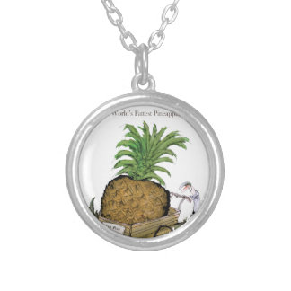 Love Yorkshire 'world's fattest pineapple' Silver Plated Necklace