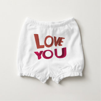 Love you 3D Nappy Cover